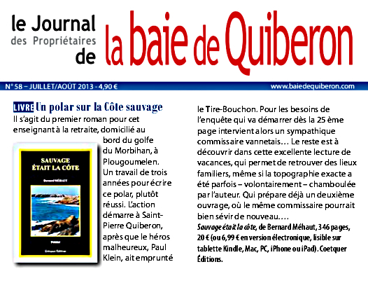 Journal de la baie de Quiberon